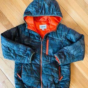 Boys Lands End packable down coat